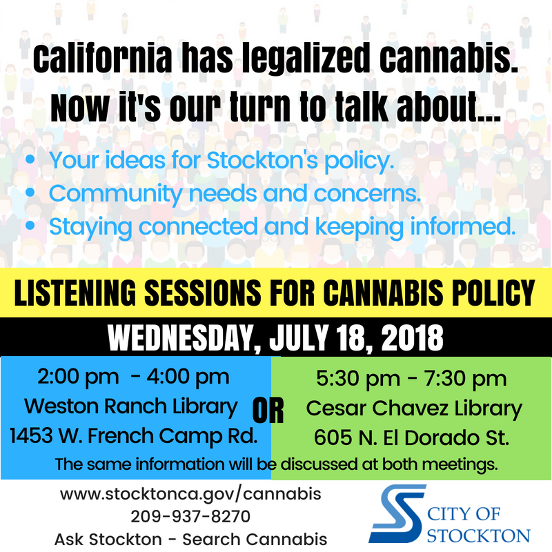 Cannabis Listening Meetings - July 18