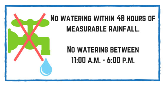 No Watering Between 11 a.m. to 6 p.m.