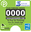 Parkmobile sticker
