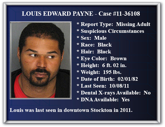Missing Person Flyer of Louis Edward Payne