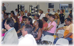 Photograph of a Neighborhood Watch meeting