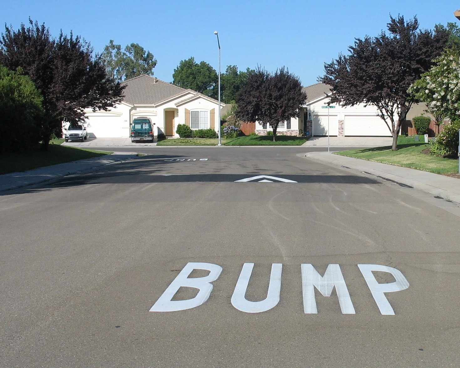 Speed Hump with Bump Legend available through Expedited Program