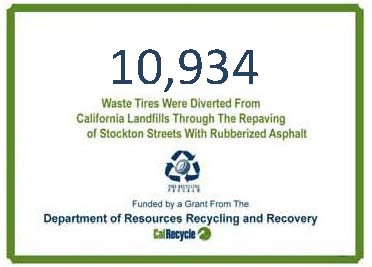 Tire waste diverted