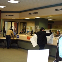 Image of the Stockton Permit Center Front Desk